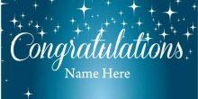 Congratulations Banner - Blue