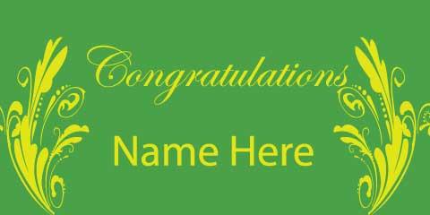 congratulations banner green 1