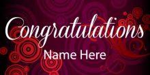 Congratulations Banner - Swirls