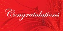 Congratulations Banner - Red