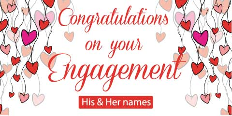 Engagement Banner - White