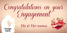 Engagement Banner - Champagne