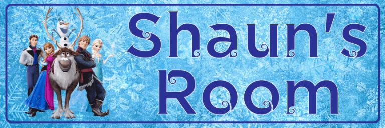 Frozen Blue - Bedroom Door Sign