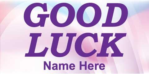 Good Luck Banner - Pink