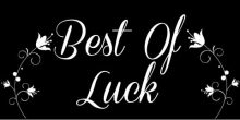 Best of Luck Banner - Black