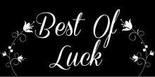 Best of Luck Banner - Black