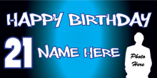 21st Birthday Banner - Blue