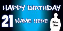 21st Birthday Banner - Blue