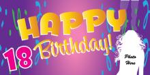 18th Birthday Banner - Purple