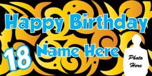 18th Birthday Banner - Tribal