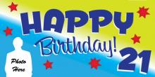21st Birthday Banner - Stars