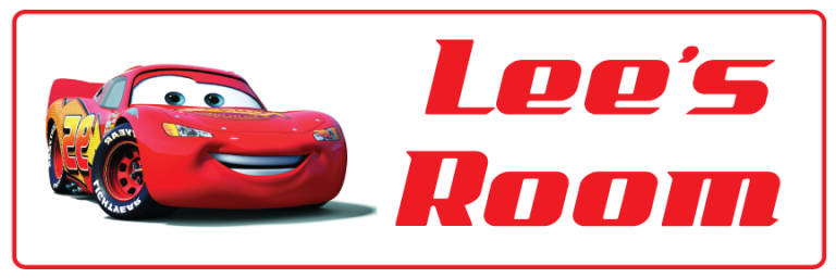 Lightning McQueen - Bedroom Door Sign