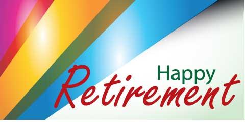 Retirement Banner - Stripes
