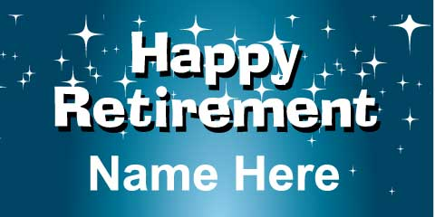Retirement Banner - Blue