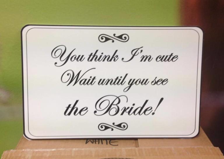 Wedding Sign White Square
