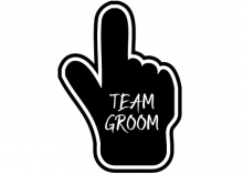 Team Groom Bubble
