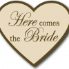 Wedding Sign Beige Heart