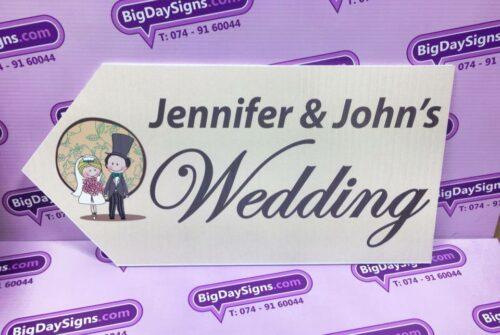 Wedding Road Sign Beige