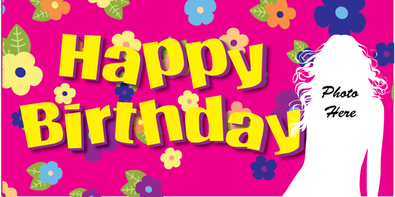 Birthday Banner - Flowers