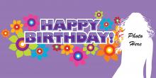 Birthday Banner - Purple