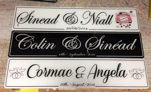 His & Her Car Wedding Number Plate