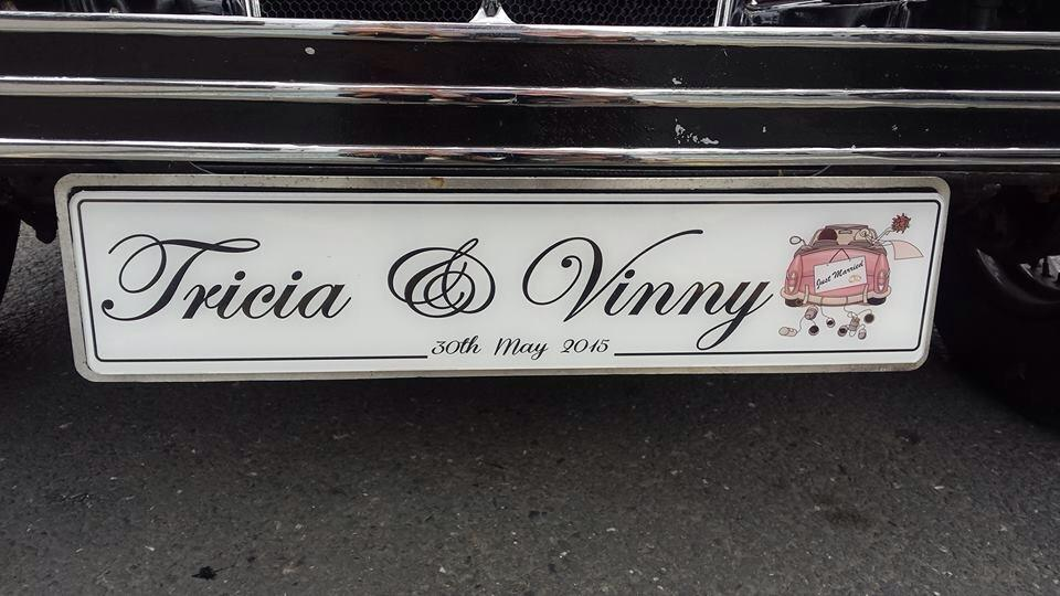 His & Her Car Wedding Number Plate -
