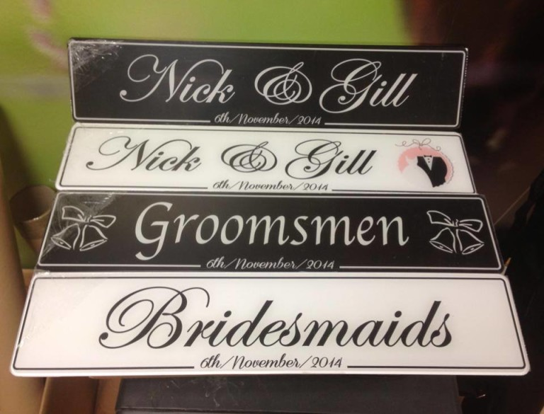 His & Her Couple Wedding Number Plate