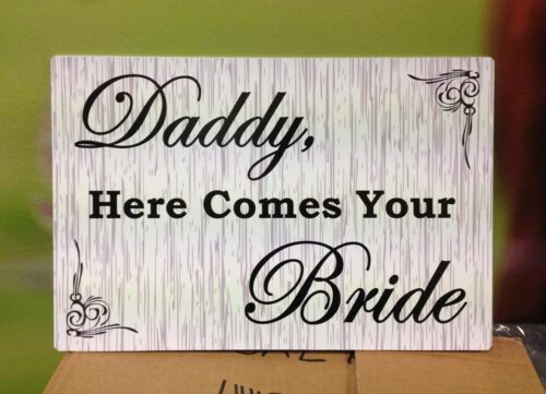Wedding Sign Stripe Square
