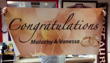 Wedding Banner Gold
