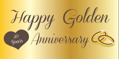Anniversary Banner - Golden