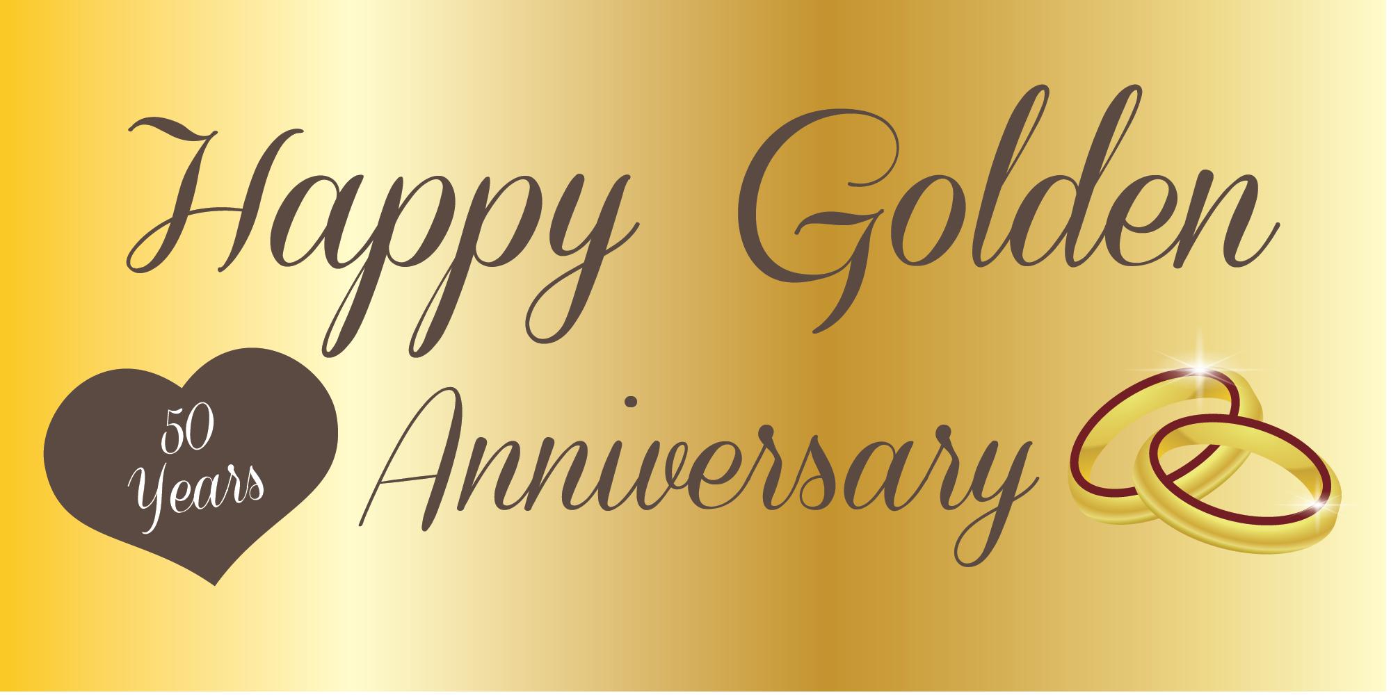 Anniversary Banner Golden