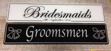 Groomsmen Black Number Plate