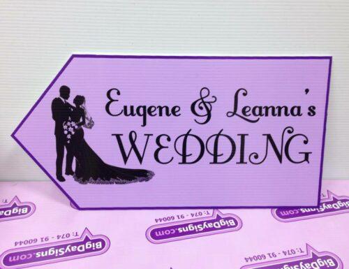 Wedding Road Sign Lilac