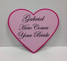Wedding Sign Pink Heart