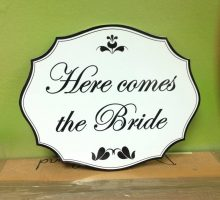 Wedding Sign Rounded