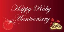 Anniversary Banner - Ruby