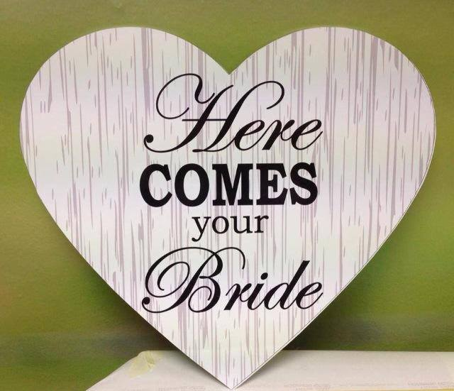 Wedding Sign Stripe Heart