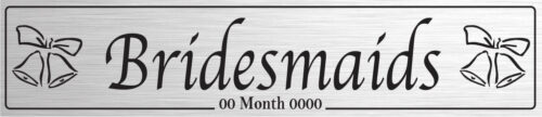 Bridesmaids Silver - Wedding Number Plate