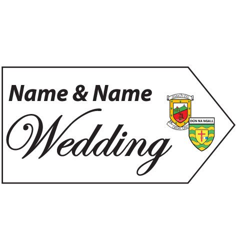 Wedding Road Sign - County Crests
