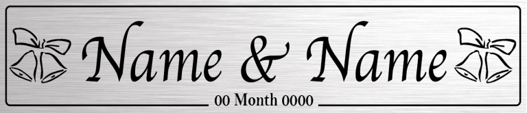 Couple Silver - Wedding Number Plate
