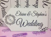 wedding road signs elegant