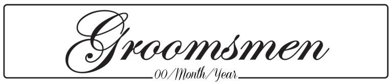 Groomsmen - Wedding Number Plate