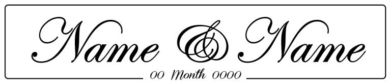 Plain - Wedding Number Plate