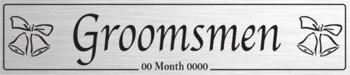 Groomsmen Silver - Wedding Number Plate