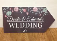 wedding road sign charcoal