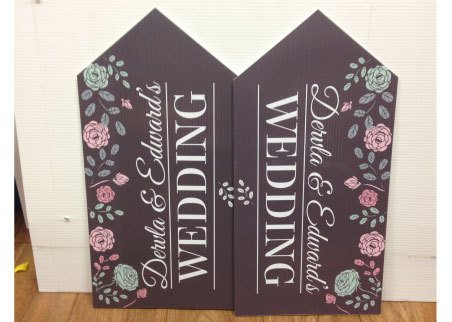wedding road signs charcoal