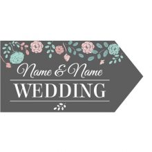 Wedding Road Sign - Charcoal