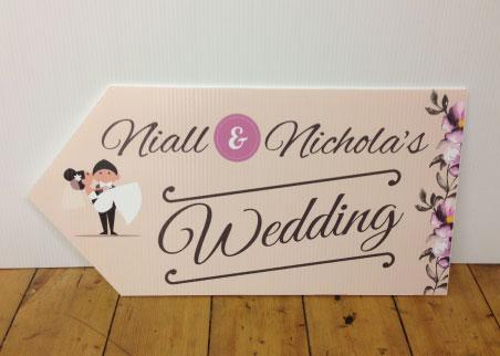 wedding road signs floral