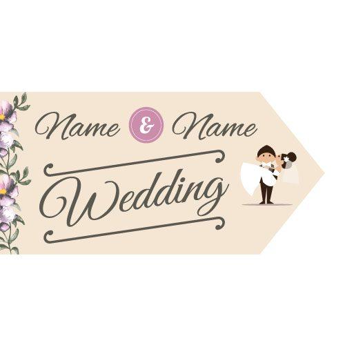 Wedding Road Sign - Floral