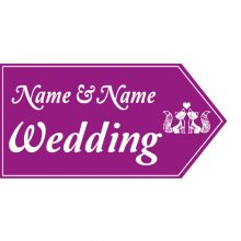 Wedding Road Sign - Fox